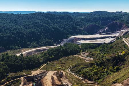 Mountain of waste of a mine of salt or potash in Cardona, Catalonia, Spain