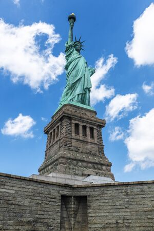View of the Statue of Liberty in New York City, USA