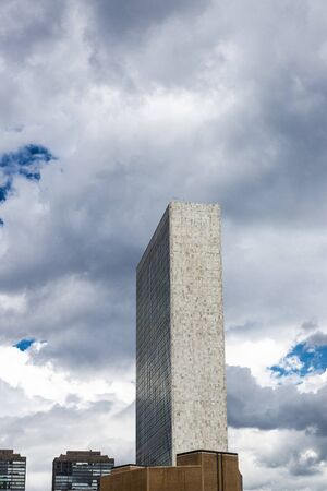 Headquarters of the United Nations (UN) in Manhattan, New York City, USA 写真素材