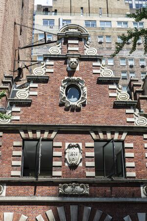 Facade of an old typical house in Midtown Manhattan, New York City, USA 写真素材