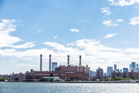 Electricity generation plant of Consolidated Edison, Inc., (Con Edison or Con Ed) on the East River at 15th Street in Manhattan, New York City, USA