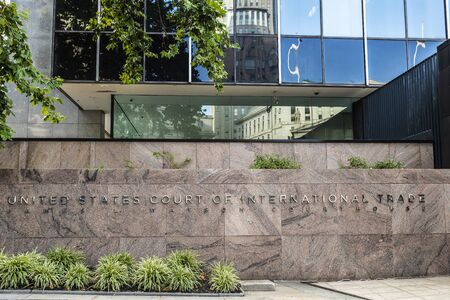 Facade of the United States Court of International Trade or the United States Customs Court in Manhattan, New York City, USA