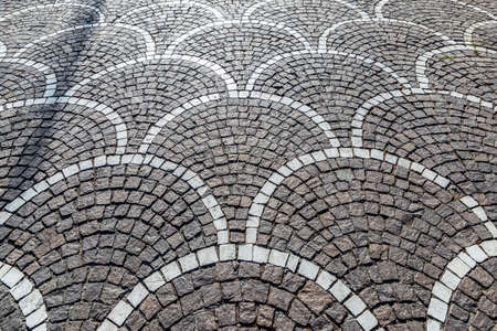 Street paving stones as background in Pompeii, Italy
