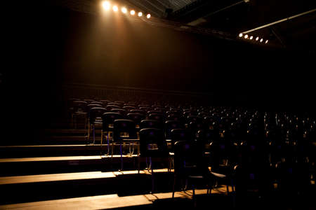 Empty seats of a theater