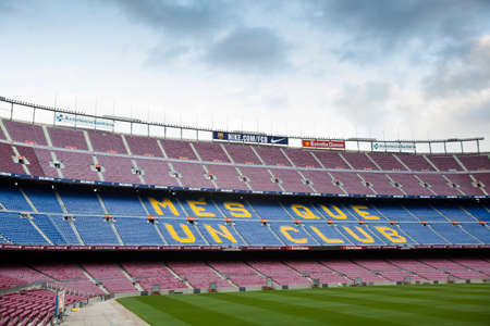 Barcelona, Spain -13 May 2014- Empty stadium of FC. Barcelona