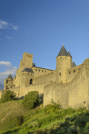 The Cite de Carcassonne is a medieval citadel located in the French city of Carcassonne, in the department of Aude, Languedoc-Roussillon region