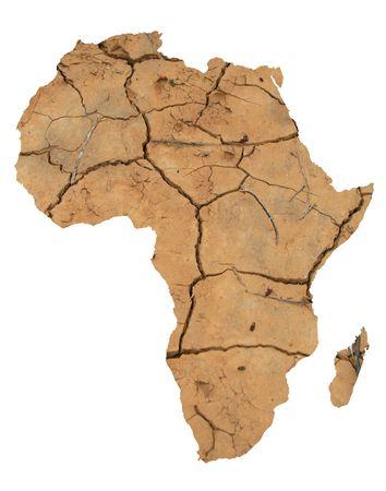 dryness: Illustration for Africa desertification Stock Photo