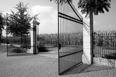 Gate to a big house photo