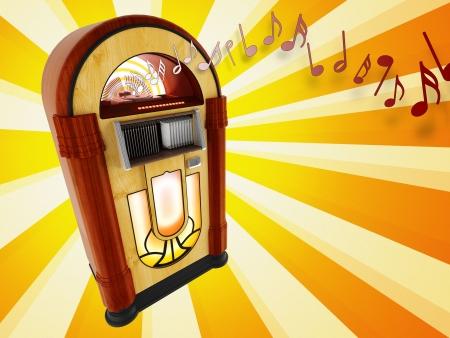 Jukebox illustration Stock Photo