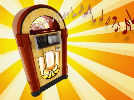Jukebox illustration Stock Photo