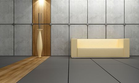 Interior design - Stone and wood for modern style room Stock Photo - 4307908