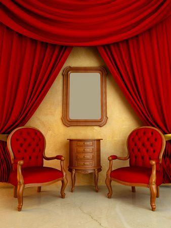Interieur - stijl klassieke en elegante voor zitkamer
