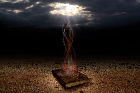 The magic book Stock Photo