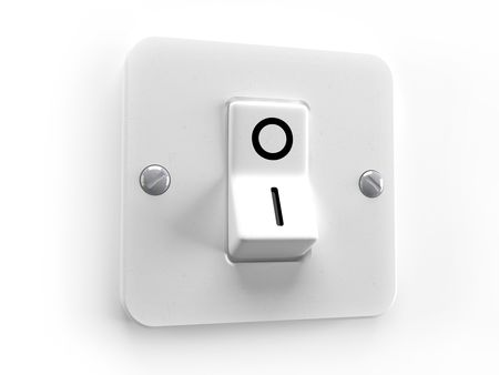 ignited: Switch OFF for lighting system control - 3d image Stock Photo