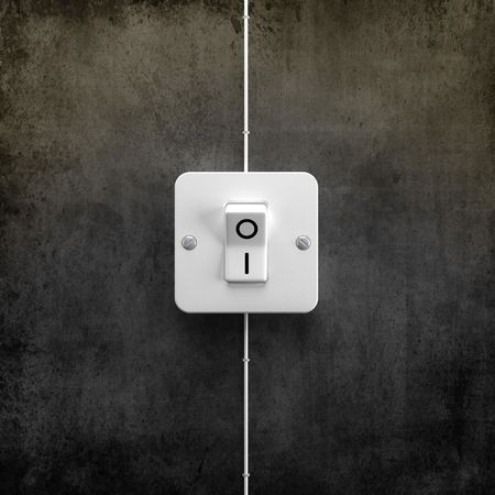 Switch ON for lighting system control - 3d image