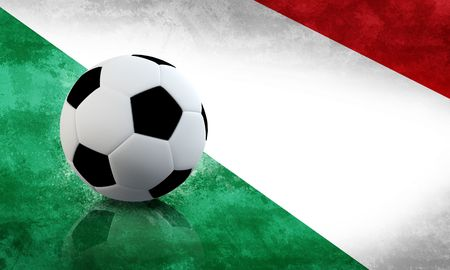 world championship: A soccer ball on Italy grunge flag