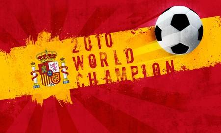 Spain world champion 2010 grunge background