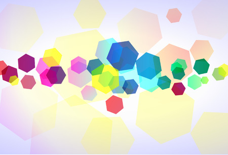 Colorful hexagons for dynamic abstract wallpaper