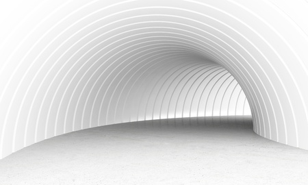 luminous: White and luminous underpass tunnel 3d computer graphic generated