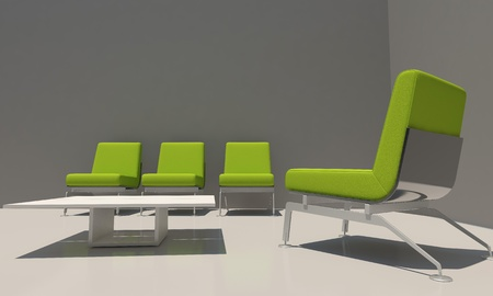 3D Relax house room  with modern seat Stock Photo - 9922051