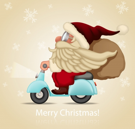 Speedy Santa Claus Vector