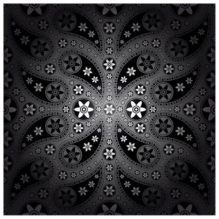 modular: Paisley silver color for wallpaper tile background Illustration