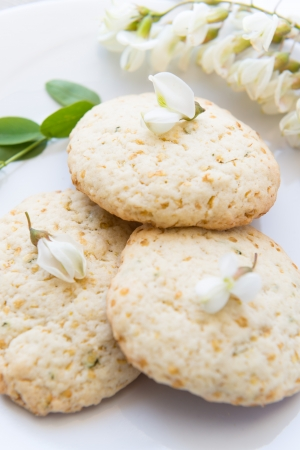 goodness: Goodness sweet cookies with acacias flower for spring breakfast