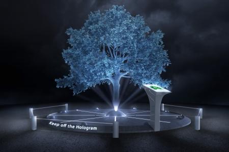 verdunkeln: In einer dunkeln Zukunft die B�ume nur Hologramm