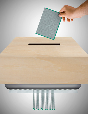 unjust: image that represents the ballot concept worthless Stock Photo