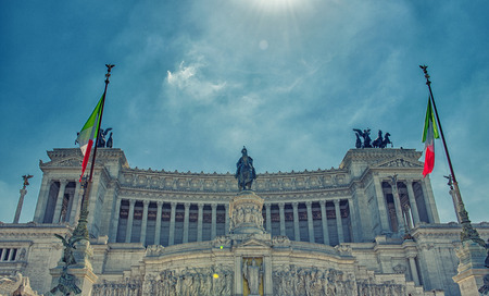 altar of fatherland: Altar of the Fatherland to Rome Italy Stock Photo