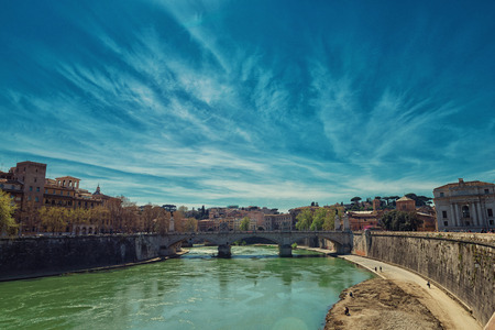 tevere: Tevere river to Rome from Saint Angel bridge