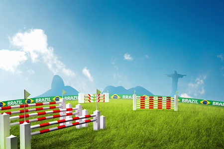 corcovado: Riding obstacles jump in brazil for the summer games