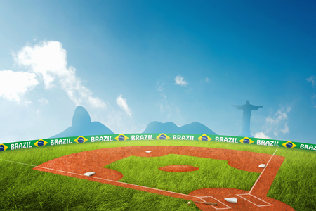 baseball field: Baseball field in brazil for the summer games