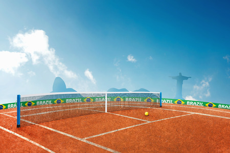 azucar: Red ground tennis in brazil for the summer games