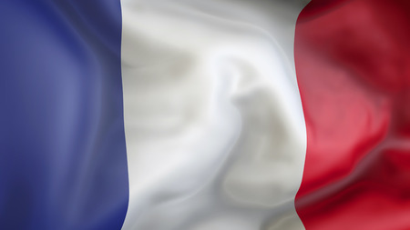 french flag: French flag waving in the wind