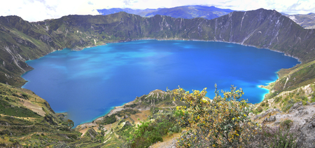 View of Quilotoa Lagoon