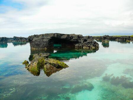 The lava tunnels on the Island of Isabela, Galapagos, Ecuador