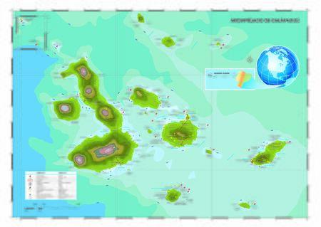 Vector map of Galapagos Islands