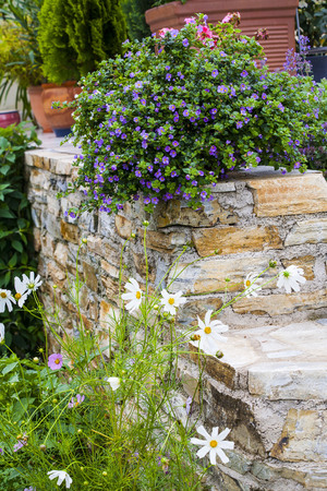 Horticulture and terracing with natural building materials: such as brick and stone.