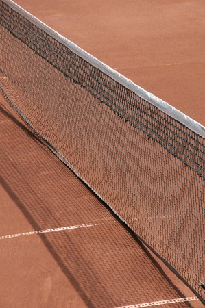 Net on a tennis court