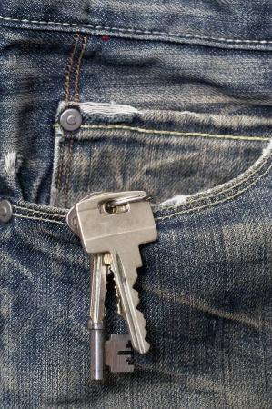 Keys in a jeans pocket
