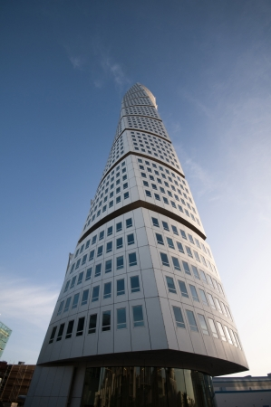 The skyscraper Turning Torso in Malmoe, Sweden (by the arcitect Santiago Calatrava) is the second highest residential building in Europe with its 190 meters hight (almost 575 ft). This is one out of two pictures in this serie.
