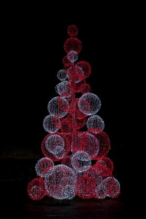 Christmas tree made of light
