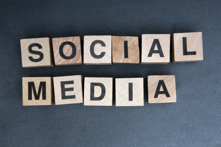 wooden cubes spelling social media Stock Photo - 16417849