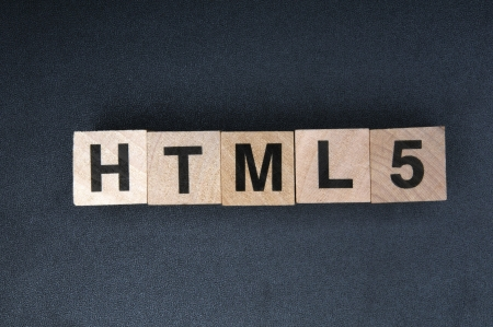 Wooden cubes spelling html5 Stock Photo - 16729257
