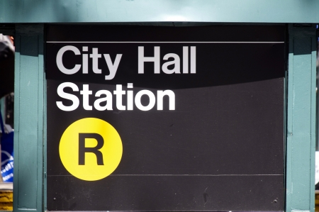 subway entrance: City Hall Station Subway Entrance Manhattan