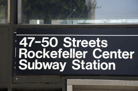 station m�tro: Rockefeller station de m�tro gare