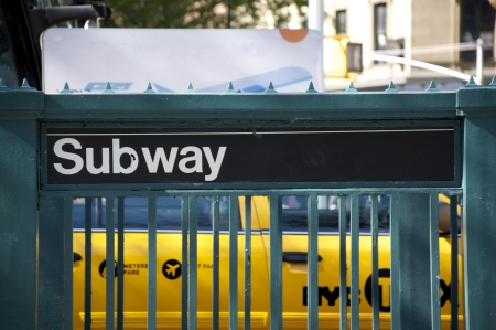 subway entrance: Subway Entrance, New York City. Stock Photo