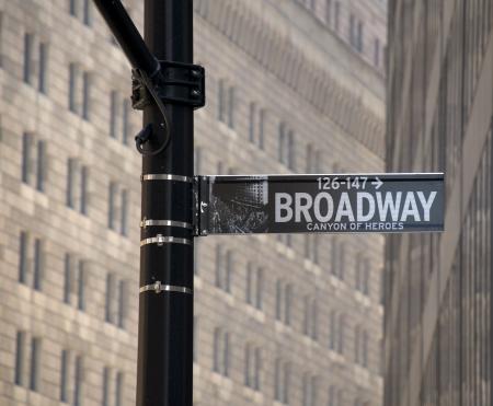 New Yorks Broadway street sign.
