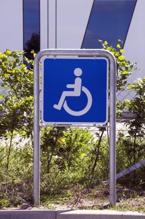 se�al parking: Muestra del estacionamiento handicaped